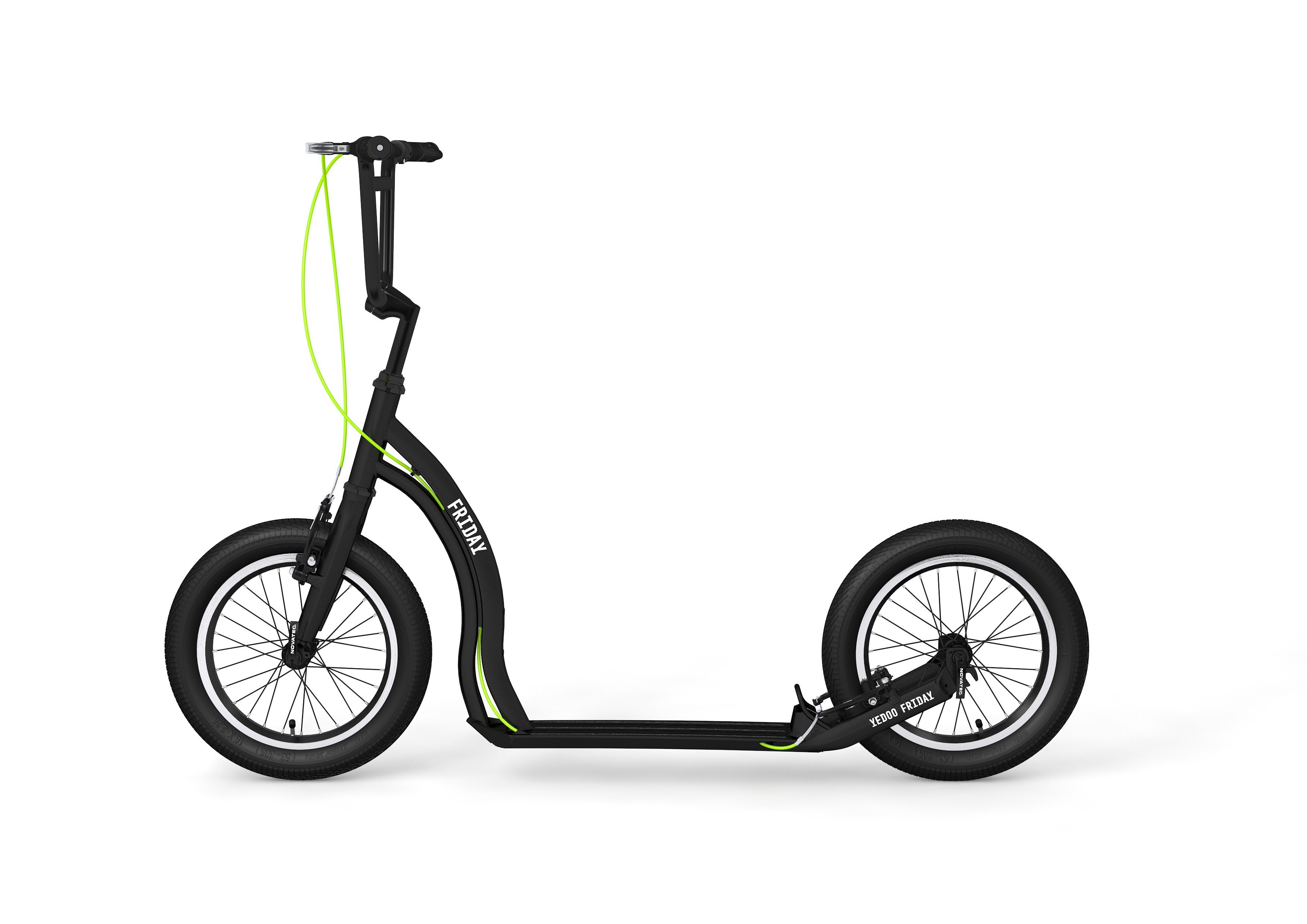 yedoo tretroller friday alu black 16 16 dogscooter cityroller tretroller tretroller nach. Black Bedroom Furniture Sets. Home Design Ideas