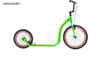 "Crussis Active 3.3 Tretroller City Scooter 20"" 16"" V-Brake green – Bild 1"