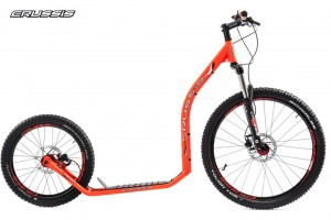 Crussis Cross 6.1 Neon Orange Scooter Tretroller – Bild 1