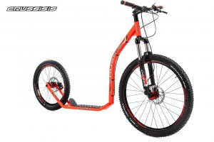 Crussis Cross 6.1 Neon Orange Scooter Tretroller – Bild 2